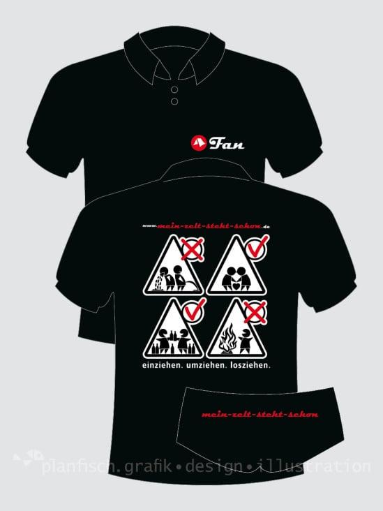 mein-zelt-steht-schon: Gestaltung der Fan-Shirts