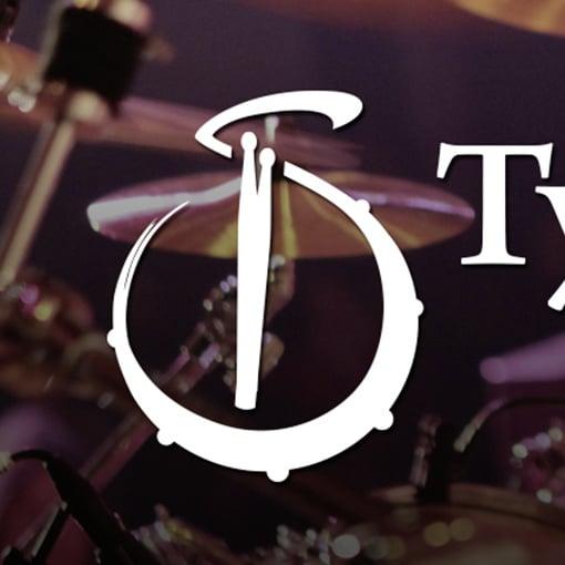 Bildmarke auf Grundlage der Versalien 'T' und 'S' fusioniert mit Elementen aus dem Bereich Musik und Schlagzeug.