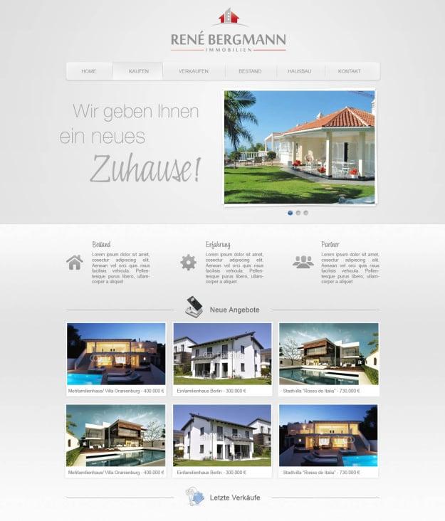Corporate- und Webdesign Immobilienmakler