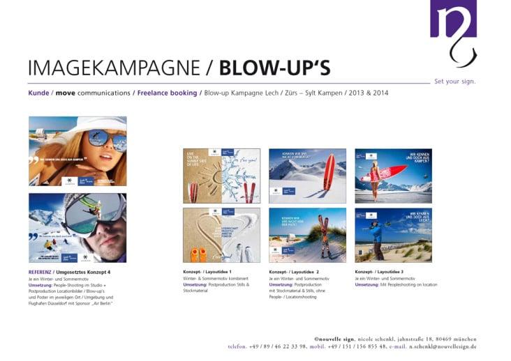 Blow-up Kooperationskampagne Lech/Zürs & Sylt/Kampen