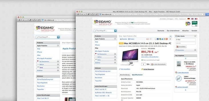 EIDAMO Webshop System