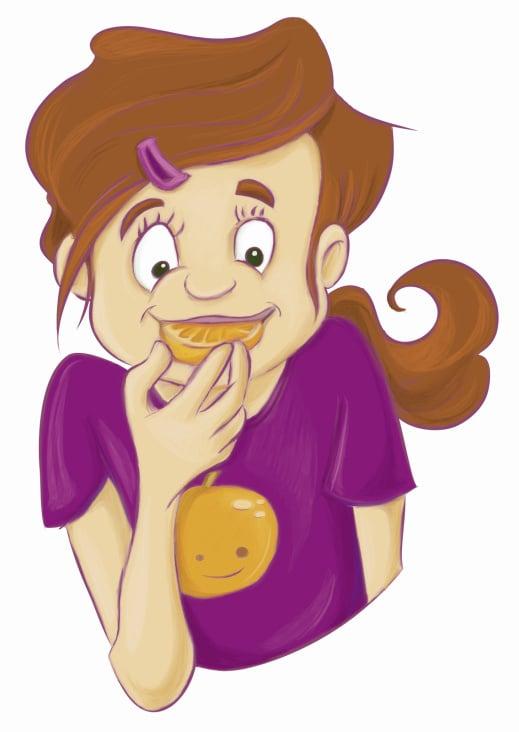 Mädchen isst Orange
