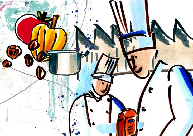 Illustrationen für Nestlè