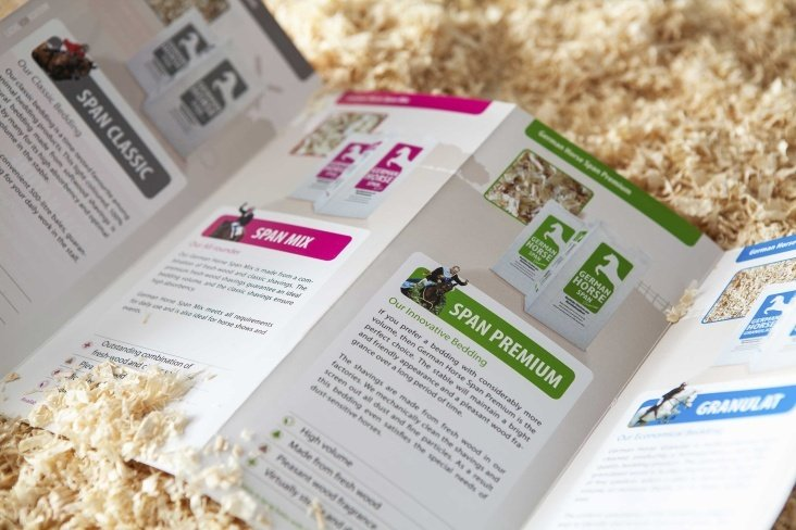 German Horse Pellets– Flyer, Gestaltung, Layout