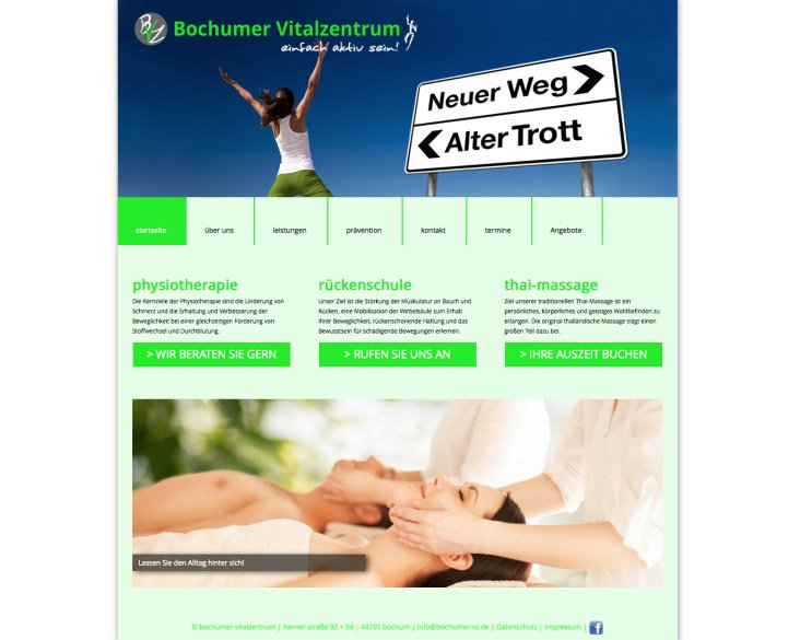 Bochumer Vitalzentrum – Web Design