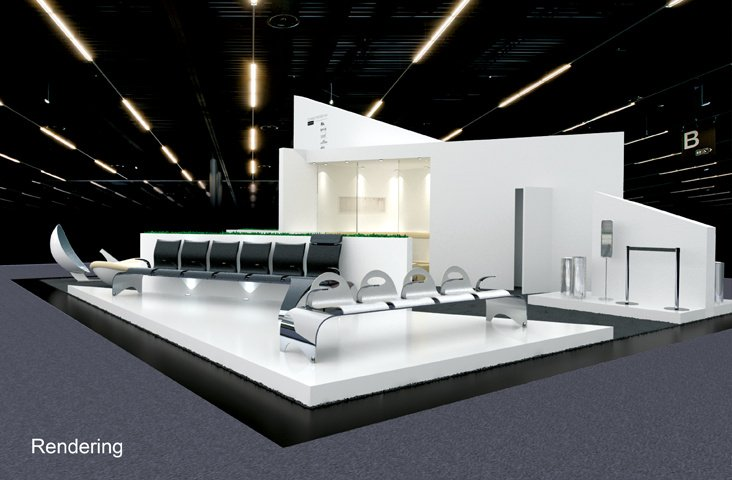 Rendering Messestand Passenger