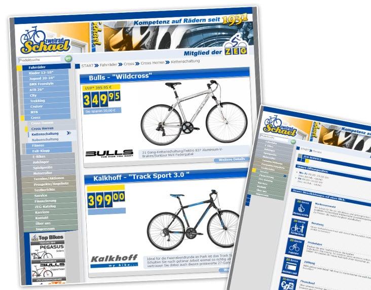 Webseite Zweirad Schael