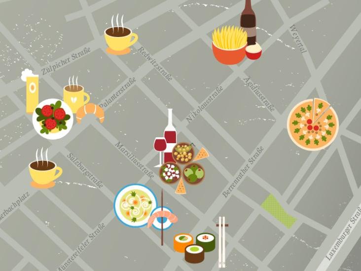 Essen und Trinken in Sülz– Ausschnitt