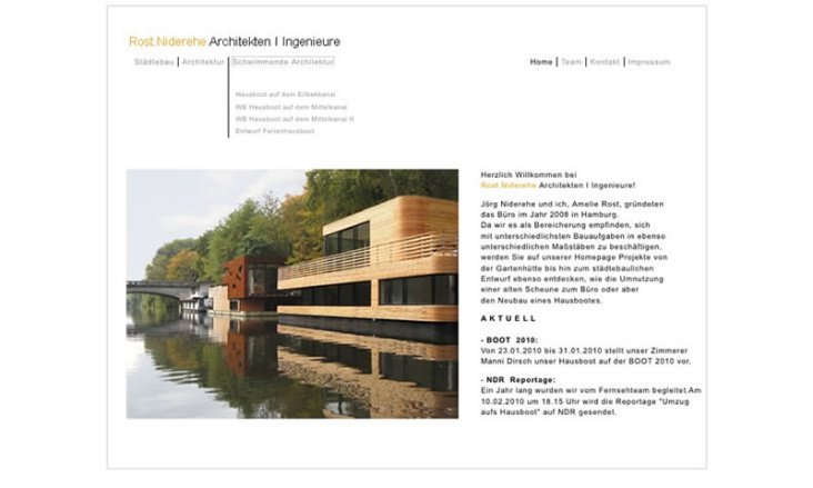 Website Architekten Rost Niederehe