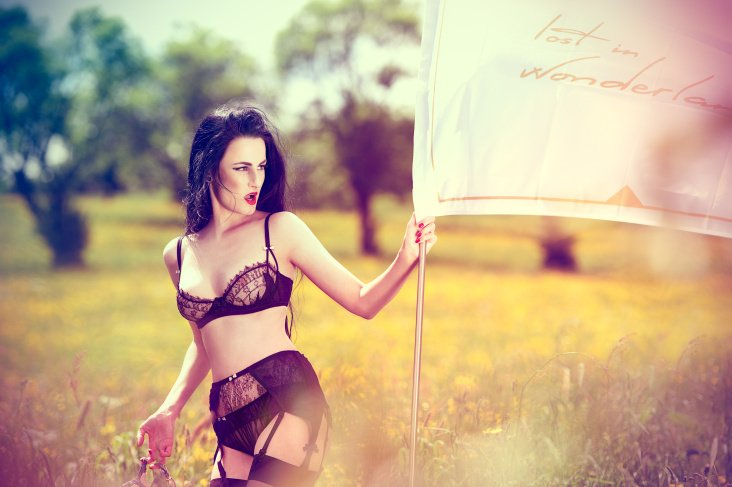 "Lingerie spring 2014 from ""Lost in Wonderland"""