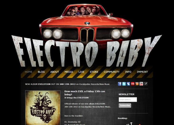 Design und Realisierung electrobaby.com