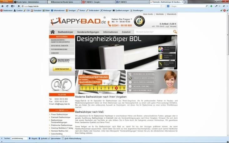 Webshop Happy Bad
