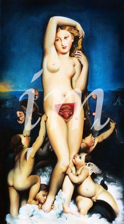 Venus Anadyomene (Ingres), Entdeckung der weiblichen Eizelle durch Karl-Ernst von Baer