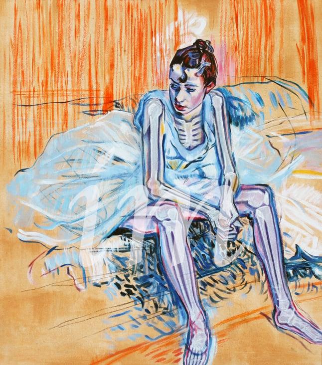 Sitting ballett dancer (Toulouse-Lautrec), Entdeckung der Röntgenstrahlen durch Wilhelm-Conrad Röntgen