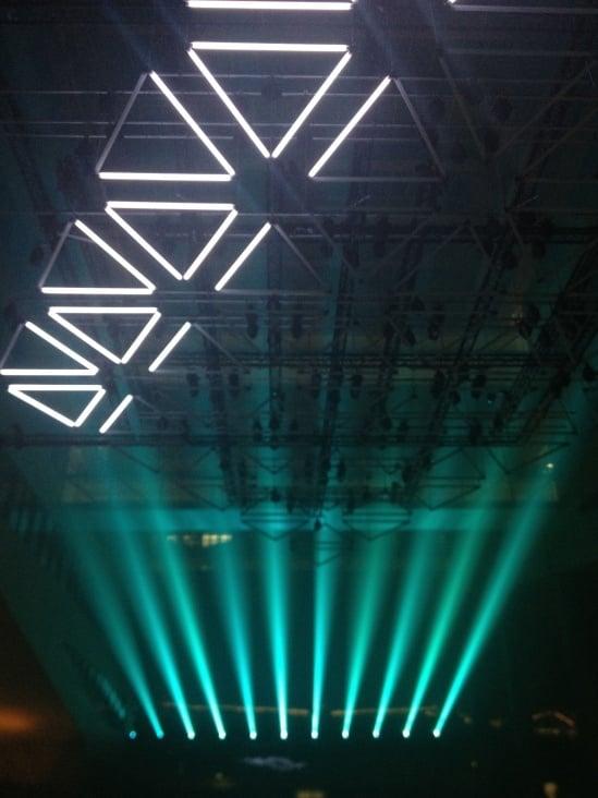 Performance at Light Festival Lyon for WhiteVoid & Robert Henke