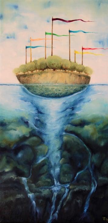 """""""Erde One""""  Ölmalerei"""