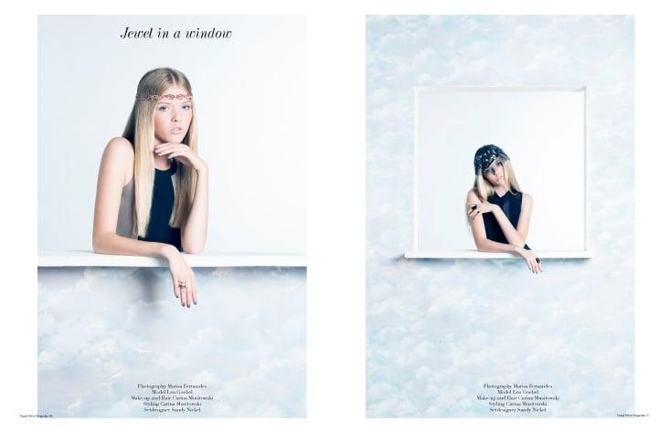 "Veröffentlichung im Trend Prive Magazine  ""Jewel in a window"" Photography Marisa Fernandes Photography Model Lea Goebel MODELWE"
