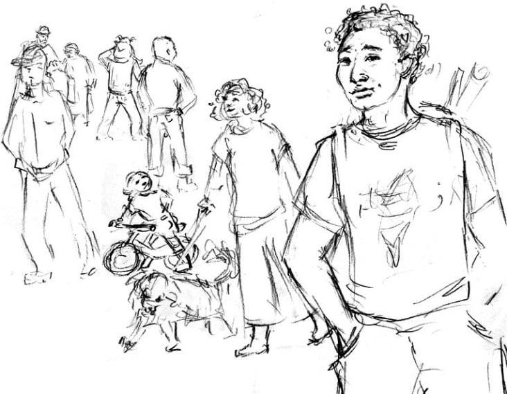 Skizze Menschen / sketch humans