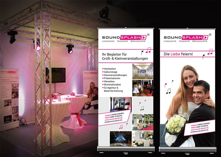 Roll-up Design, Messe