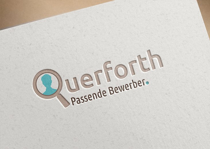 "Logodesign ""Querforth – Passende Bewerber."""