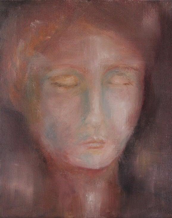 Frau in Rot, Ölmalerei Ralf Czekalla
