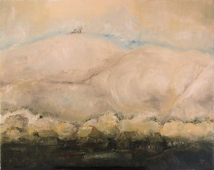 Ländliche Illusion, Ölmalerei von Ralf Czekalla