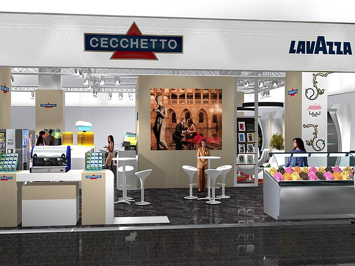 Cecchetto Import AG Lavazza Kaffeelounge an der Igeho Basel