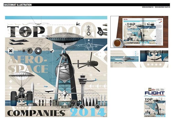 Title imagery for british Flight International magazine.