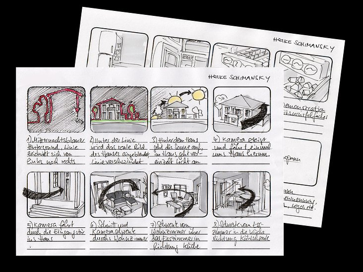 Storyboard Architektur-Visualisierung