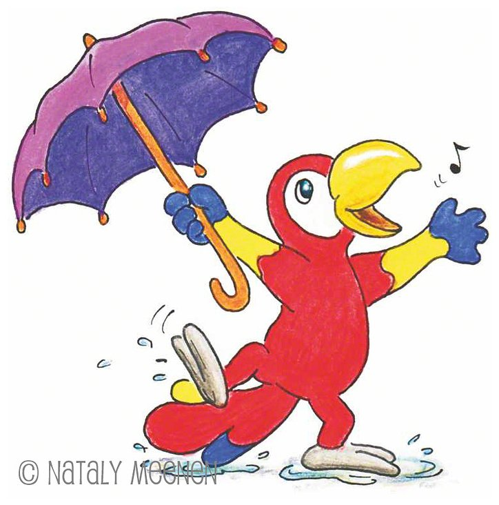 Polly dancing in the rain