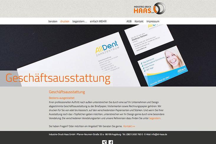 Seite: Geschäftsausstattung