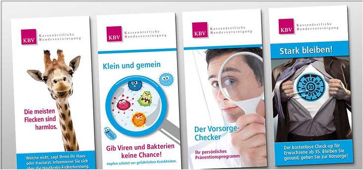 Flyertitel für KBV-Kampagnen