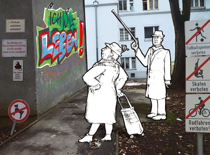 Cartoon– Frechheit!