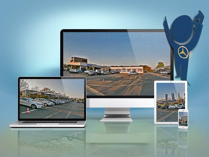 Panorama in mehreren  mobilen Geräten zusammengefasst