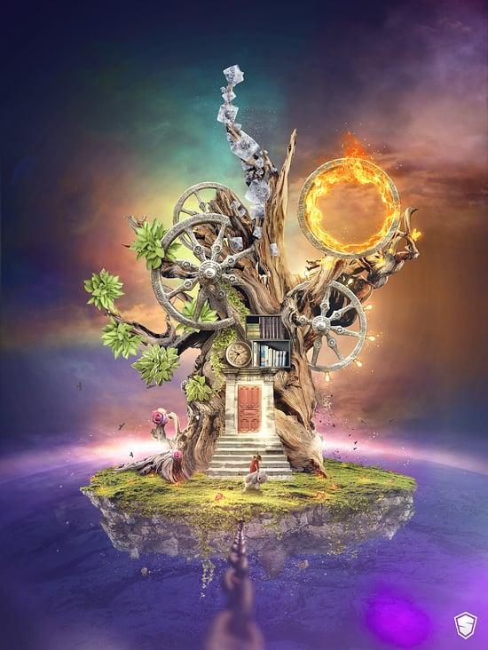 Artwork fantasy tree