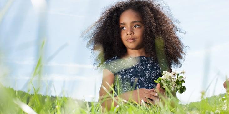 Das Mädchen mit den Blumen