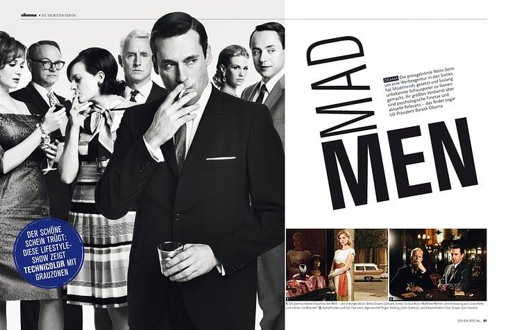 """""""Mad Men"""", Bericht und Interviews, TV-Heft 2014"""
