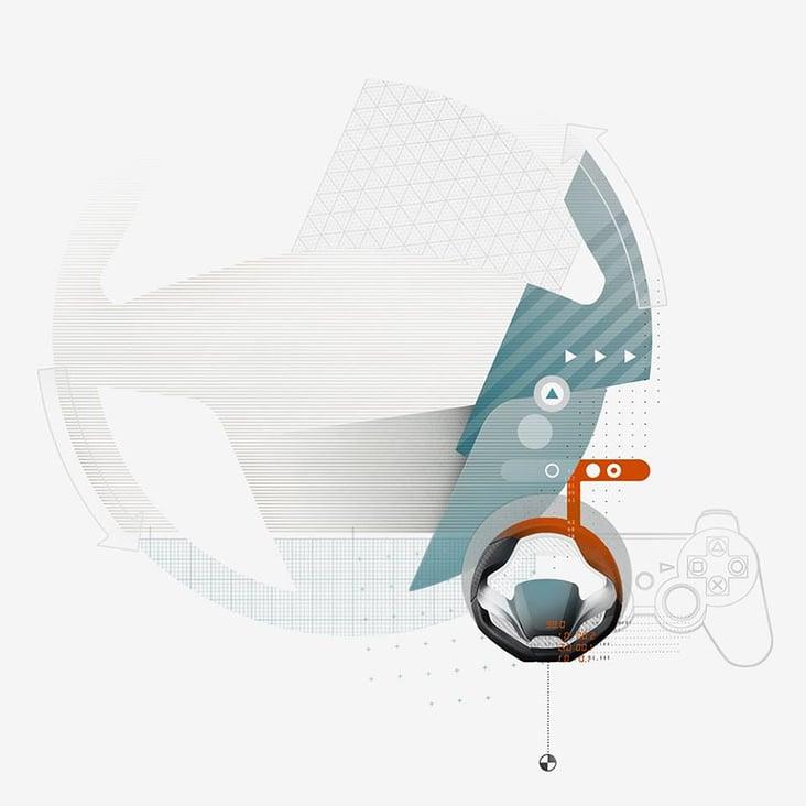 Playstation, editorial illustration
