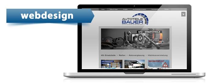 Webdesign für autoteilebauer