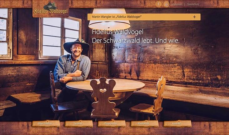 Webdesign und Web Entwicklung– Fidelius Waldvogel aka Martin Wangler