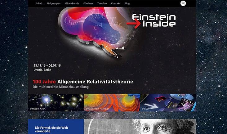 Web Entwicklung– Einstein Inside