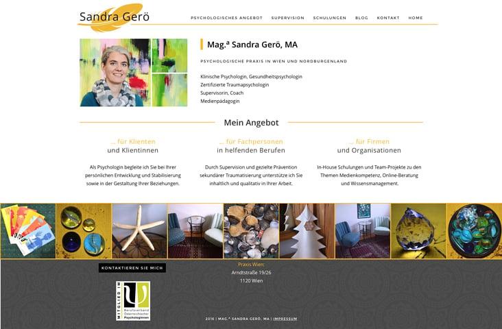 mag. sandra gerö. wordpress migration & design relaunch.