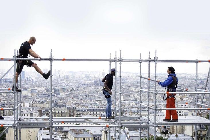 Gerüstaufbau-Paris Foto: Dietenmeier