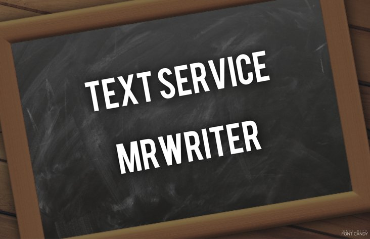Text Service MrWriter