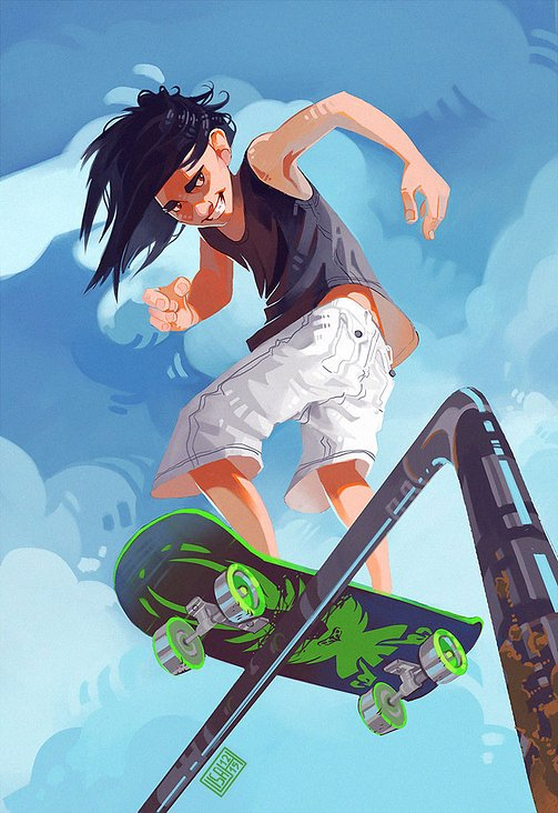 skater boy for a private client