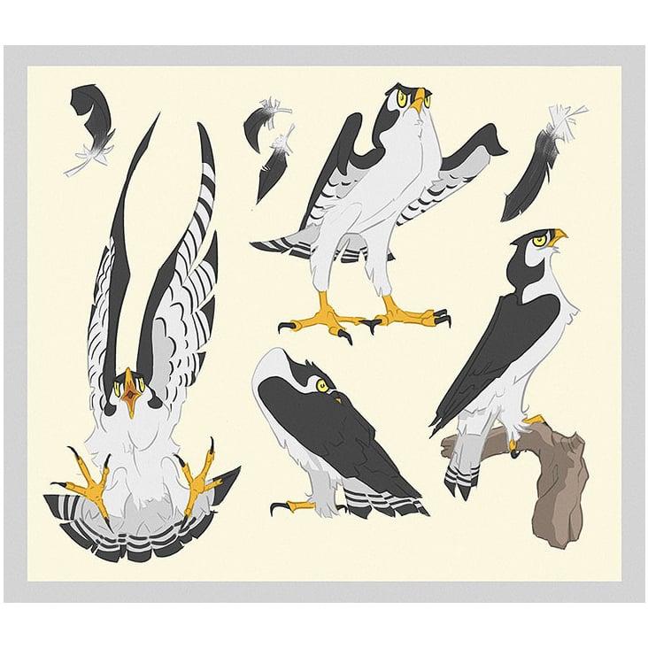 Nacre: falcon Terzel sheet