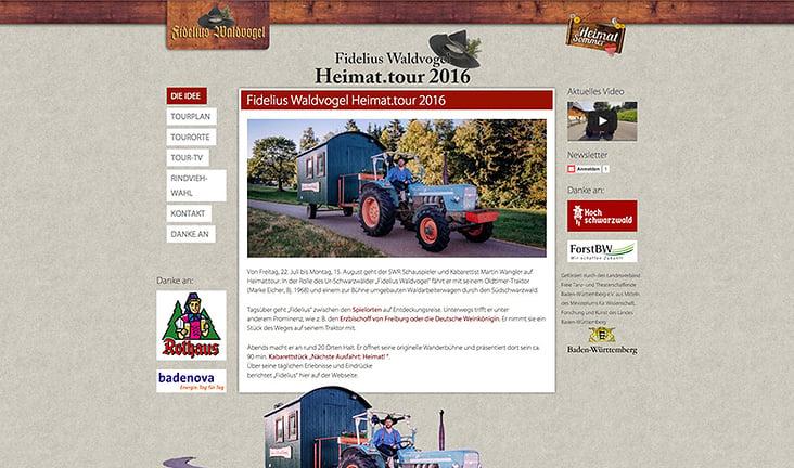 Heimat.tour 2016– Fidelius Waldvogel aka Martin Wangler