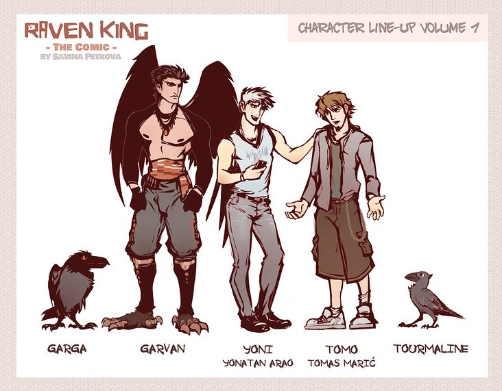 RAVEN KING Character Line-Up Vol1