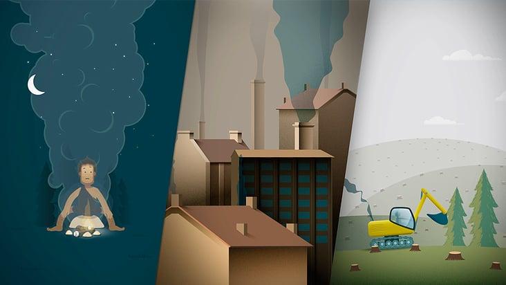 animierter Erklärfilm: Klimaschutz im Verkehr für das Öko-Institut