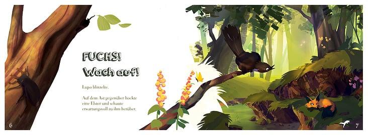 Kinderbuch 'Roka und die schlaue Elster'